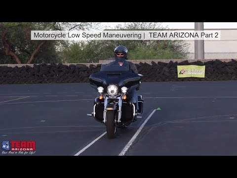Motorcycle Slow Speed Maneuvering | Low Speed Motorcycle Control | TEAM Arizona Part 2