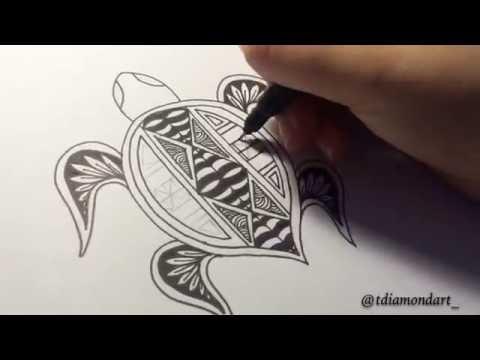 Drawing: Polynesian Turtle