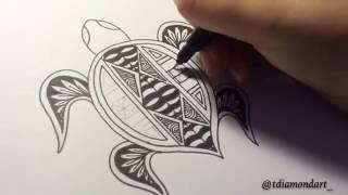 Drawing: Polynesian Turtle