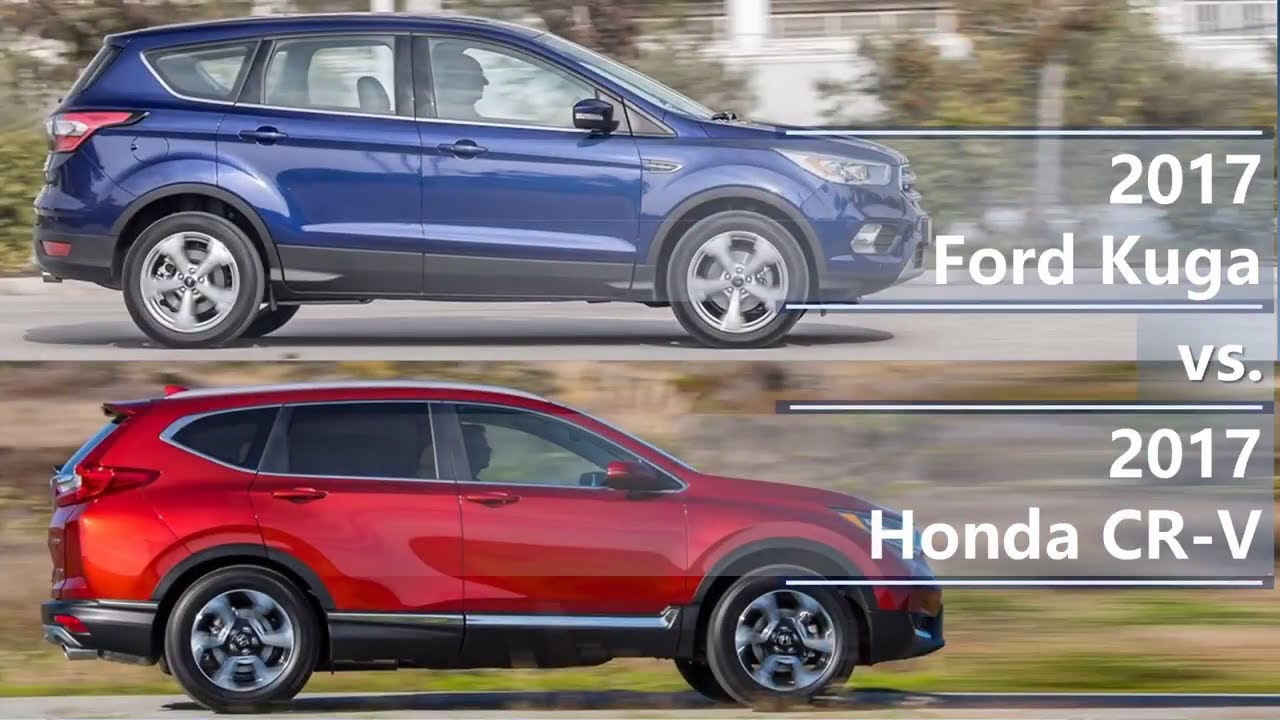 2017 ford kuga vs 2017 honda cr v technical comparison youtube. Black Bedroom Furniture Sets. Home Design Ideas