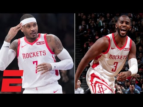 Chris Paul, Carmelo Anthony lead Rockets to win vs. Nets | NBA Highlights