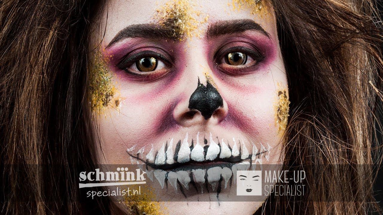 Halloween Zombie Schmink.Zombie Princess Halloween Schminktutorial
