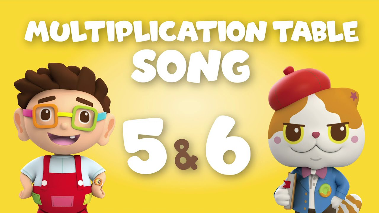 Multiplication Table Song - 5 and 6 | Donut and Ah Meow