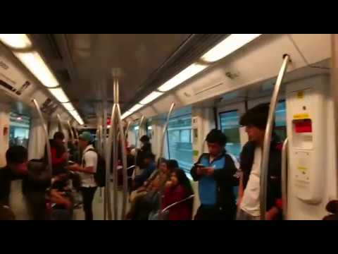 Travelling on a Metro train Lima Peru 2016