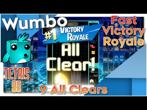 Tetris 99 - 9 All Clears - Fast #1 Victory Royale
