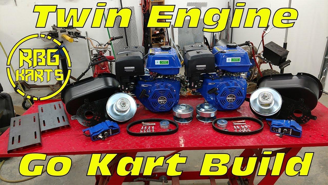 Twin 18hp Engine Go Kart Build Ep 1