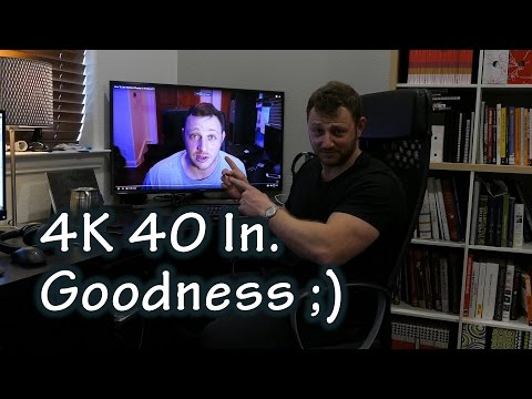Using a 4k, 40in TV as a Computer Monitor