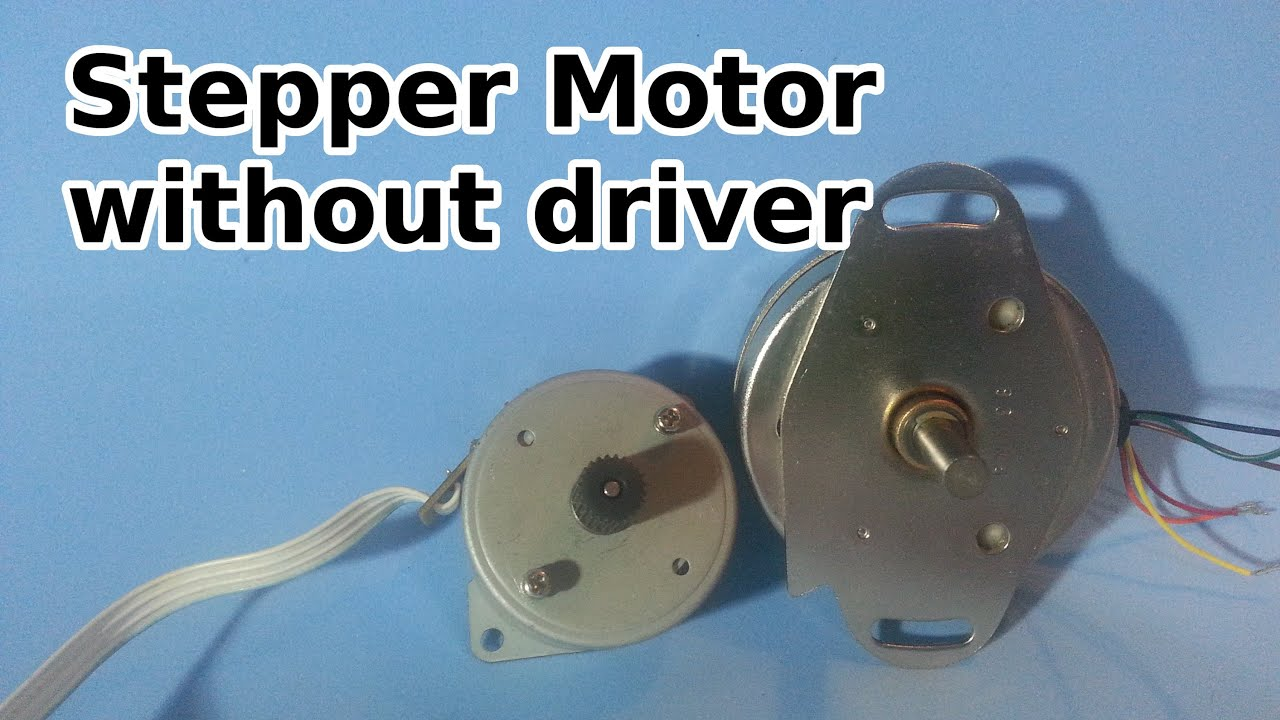 how to run a stepper motor without a driver youtube