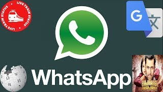 Give Super Powers to your WhatsApp - Real time train status,Translate Language, wikipedia with