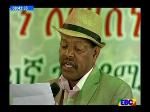 Artist Teferi Alemu Reading a Story about fitawrari gebeyehu