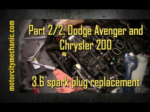 Part 2/2: 2014 Dodge Avenger 3.6 Pentastar engine spark plugs