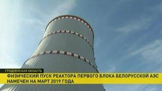 Реактор первого блока Белорусской АЭС запустят в марте 2019 года