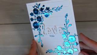 Foil without a laminator -  CAS cardmaking #aliexpress || April 2019