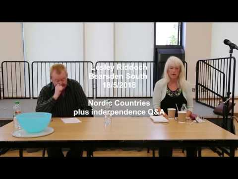 Lesley Riddoch speaks to Bearsden SNP on Scotland, Nordic countries and independence