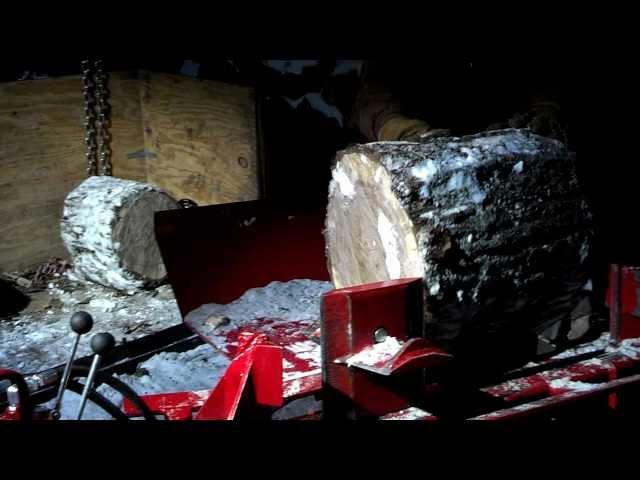 Split Fire 3403 log splitter log lift demo
