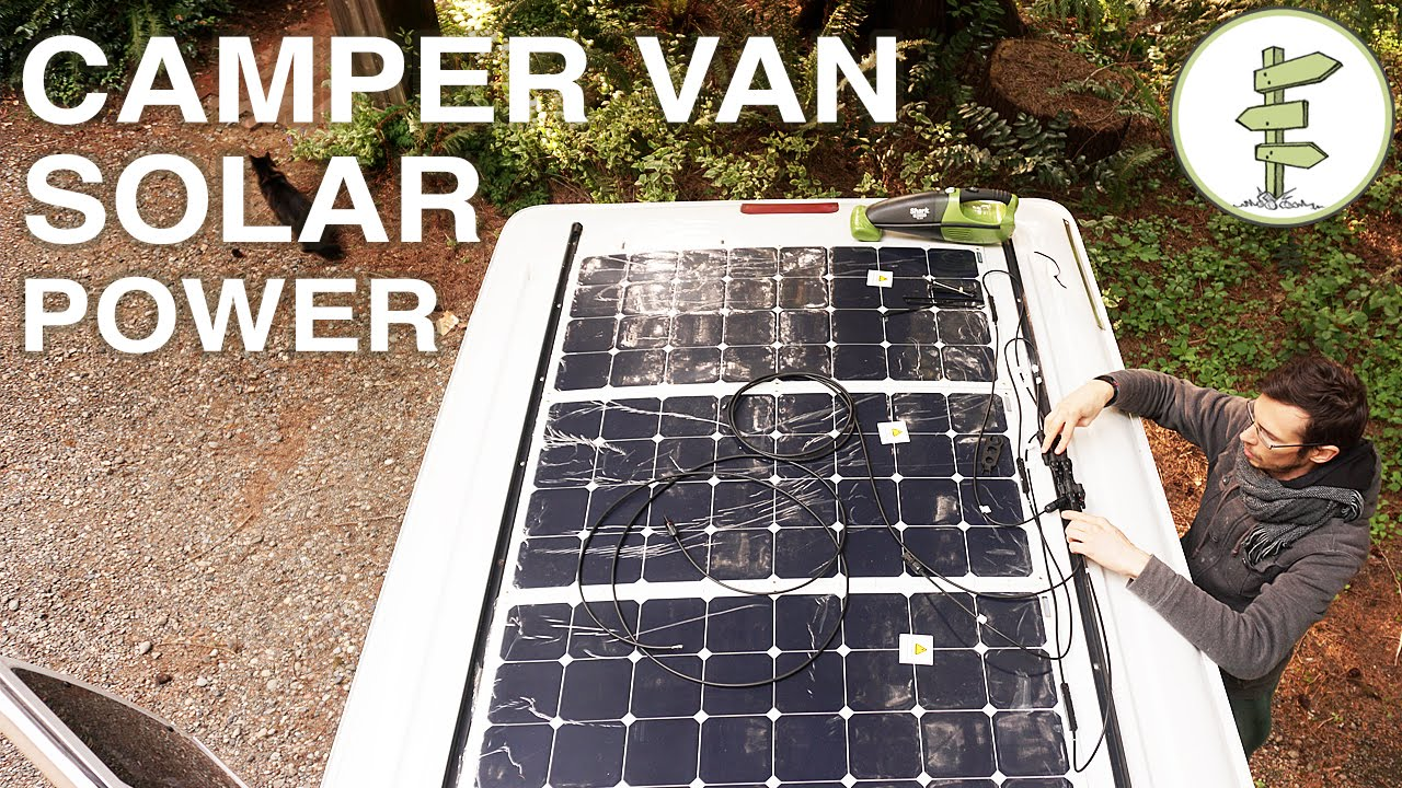 Van Life  Our Amazing Stealth Solar Power Set up! Off Grid Camper Van  YouTube