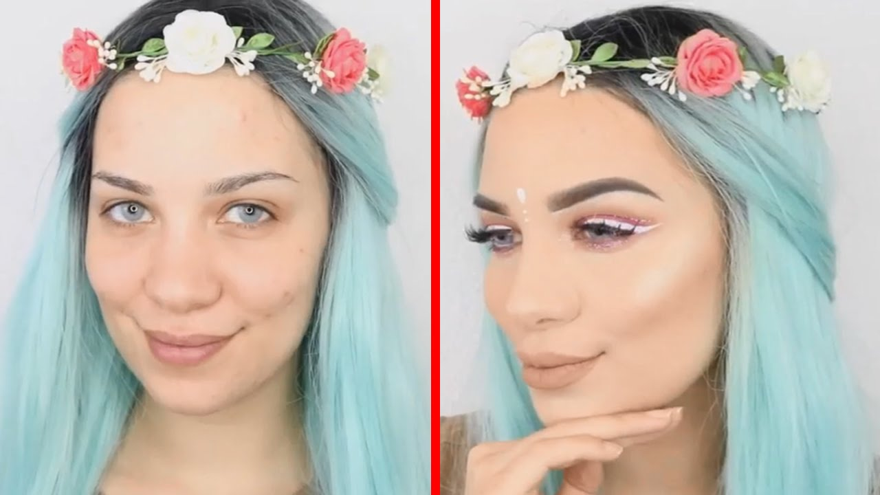 makeup before after and Pretty girls