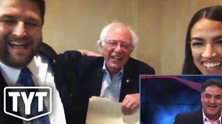 Bernie Sanders Crashes Interview