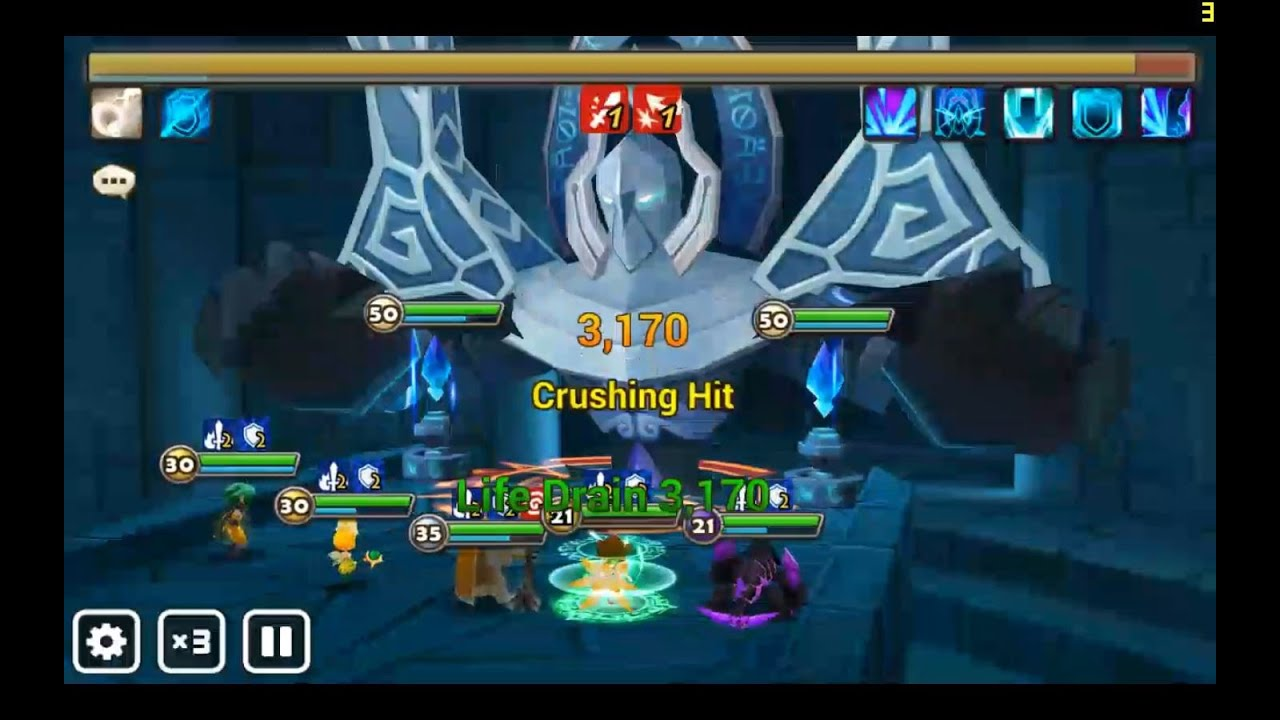 Summoners War Hall Of Water B7 Darkness Salamander Youtube