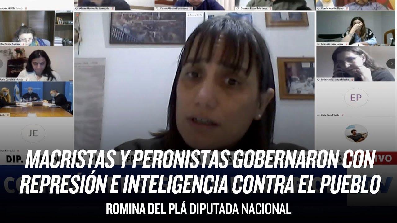 """""""Macristas y peronistas gobernaron con represión e inteligencia contra el pueblo"""" // Romina Del Plá"""