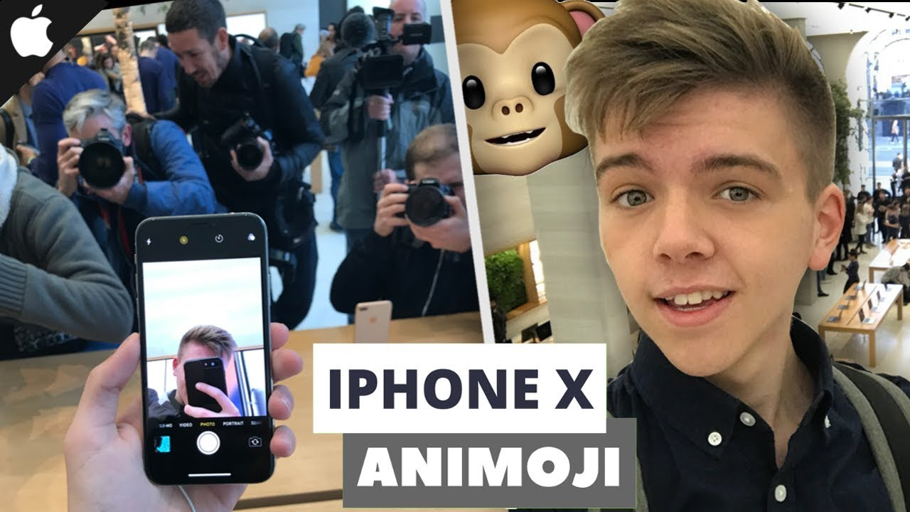 9969740f1 iPhone X ANIMOJI FACE ID TEST at the iPhone X Launch at the London apple  store
