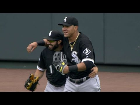 CWS@KC: Eaton makes run-saving catch, gets hug