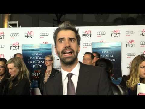 Hamish Linklater on the red carpet for 'The Big Short' Hollywood premiere