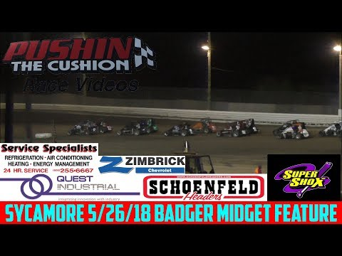 Sycamore Speedway - 5/26/18 - Badger Midgets - Feature