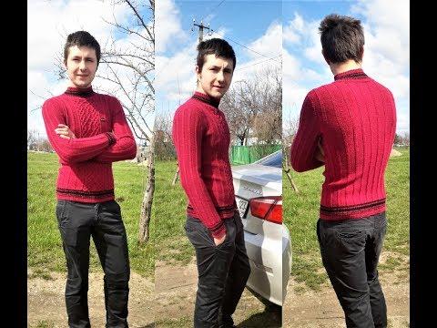 Мастер класс по вязанию мужского свитера спицами