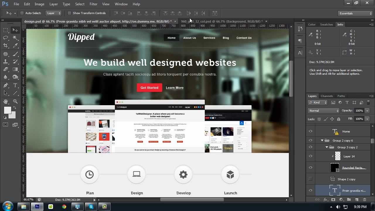 How To Create A Website Layout With Photoshop From
