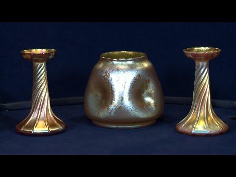 Loetz Vase & Tiffany Candlesticks | Web Appraisal | New York City