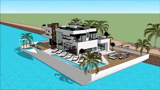 Alternative living on Floating house in London River Thames TV show 2014 Buckinghamshire UK marina F