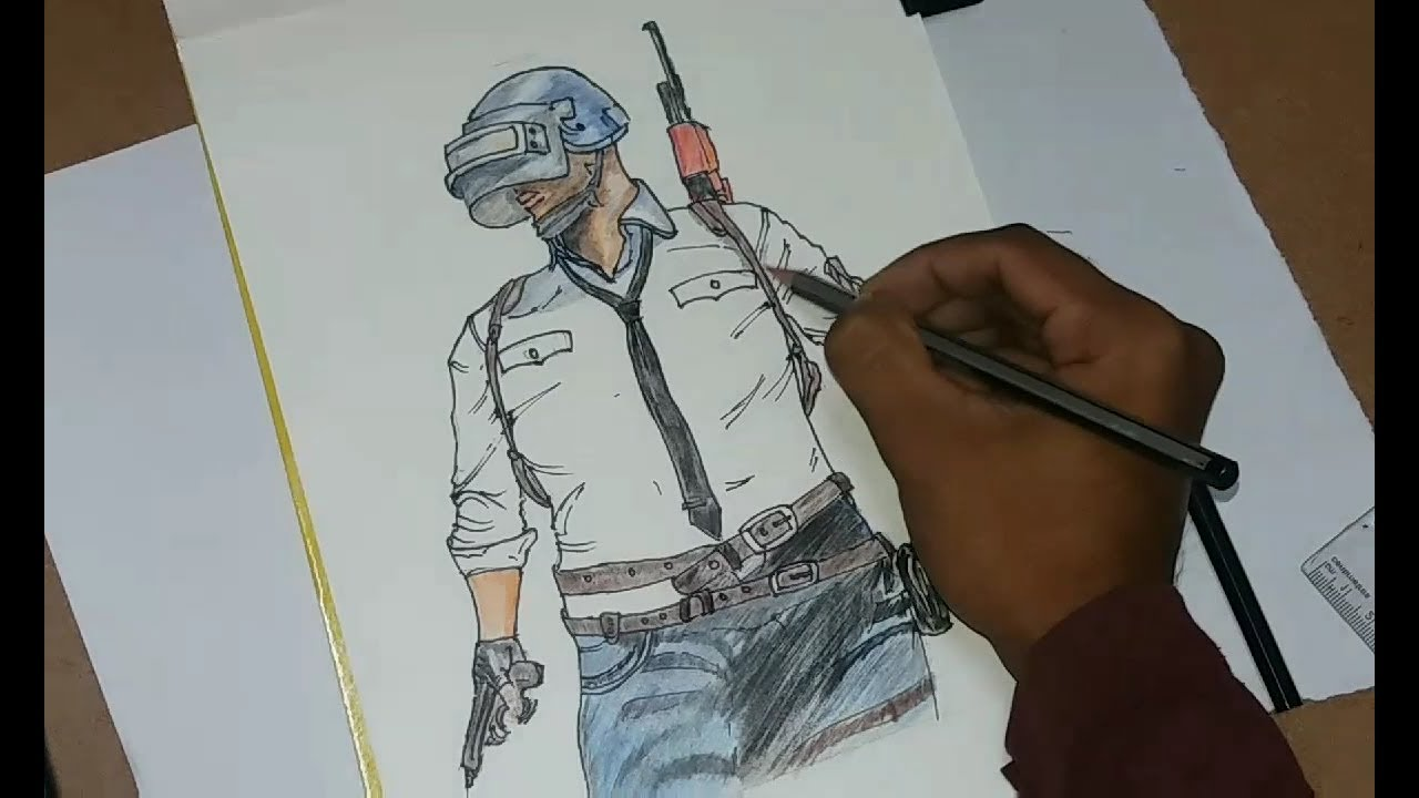 Pubg Hero By Gilbertgraphics: How To Draw PUBG Character Artwork