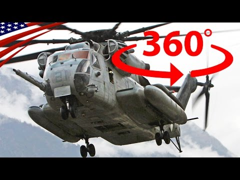 [360° Military Video] CH-53E Super Stallion External Lift Transport - 【360°軍事動画】CH-53Eヘリコプターの吊り下げ輸送