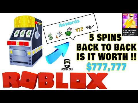 Roblox 👨‍🍳️ My Restaurant! [Slot Machine!] - 🍀 Slot Machine's HUGE REWARDS (Must Have) 🔥Bourn DNA
