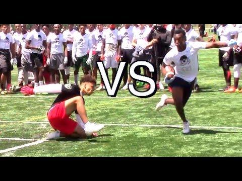 🔥🔥 WRs vs DBs - 1v1s - Nike Football Opening Regionals | Charlotte, NC | 2017