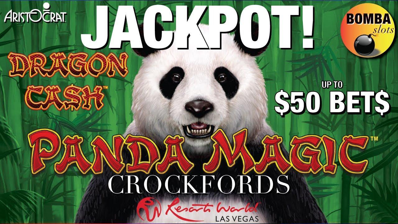 JACKPOT! PANDA MAGIC🐼 Quick look at CROCKFORDS at Resorts World Las Vegas up to $50 Bets Dragon Cash