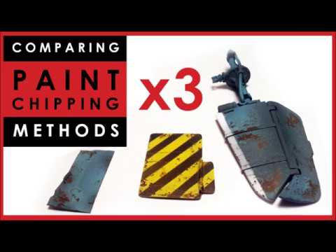 Comparing 3 x paint chipping methods for scale models: hairspray vs Vallejo vs AK Interactive