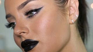 Ultimate Dark Glam Makeup Tutorial: Black Lips!