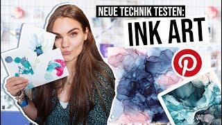 INK ART testen - Neue Kunst DIY Technik mit Tinte // I'mJette