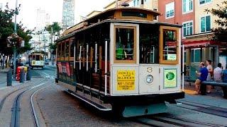 San Francisco cable car, Powell & Mason st. - Complete Ride  / Канатный трамвай Сан-Франциско(Канатный трамвай в Сан-Франциско — один из видов общественного транспорта в Сан-Франциско и одна из достоп..., 2016-04-20T21:21:36.000Z)