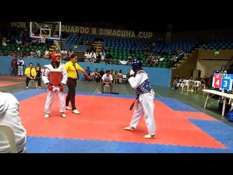 "Luzon Age Group Taekwondo Championship 10-22-16 (1st Fight) 'SF"" Alliah M. Annuari (RED)"