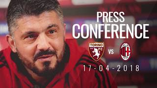 Rino gattuso's press conference on the eve of torino v ac milan
