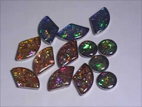 Resin Craft DIY How to make Awesome Faux Bezeled Fire Opals & Recycling (winner is Corrina Marriot)
