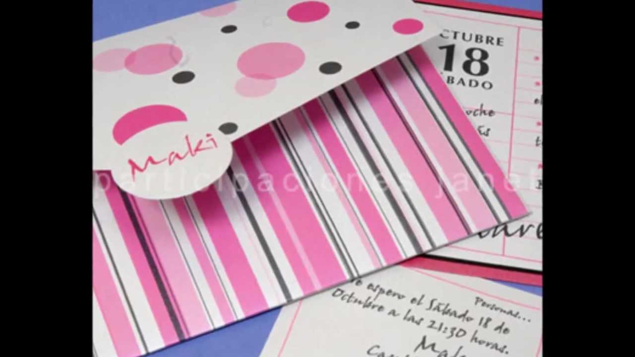 Invitaciones para fiestas de 15 a os youtube - Fotos originales para hacer en casa ...