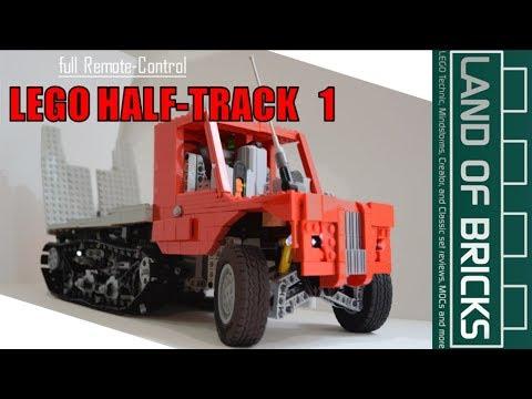 RC LEGO Half-Track Model Showcase // Land Of Bricks