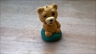 Let's Make Ted Keychain With Polymer Clay!