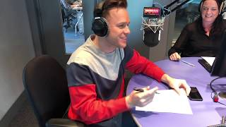 Olly Murs talks about being on tour and is set the Banksy challenge (interview part 2/4)