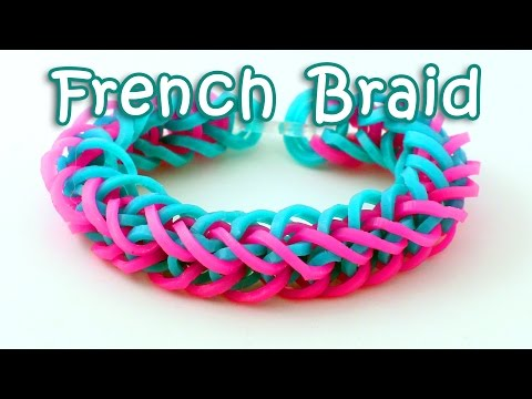 Rainbow Loom French Braid Bracelet Tutorial - How To Make A Loom Band French Braid Bracelet