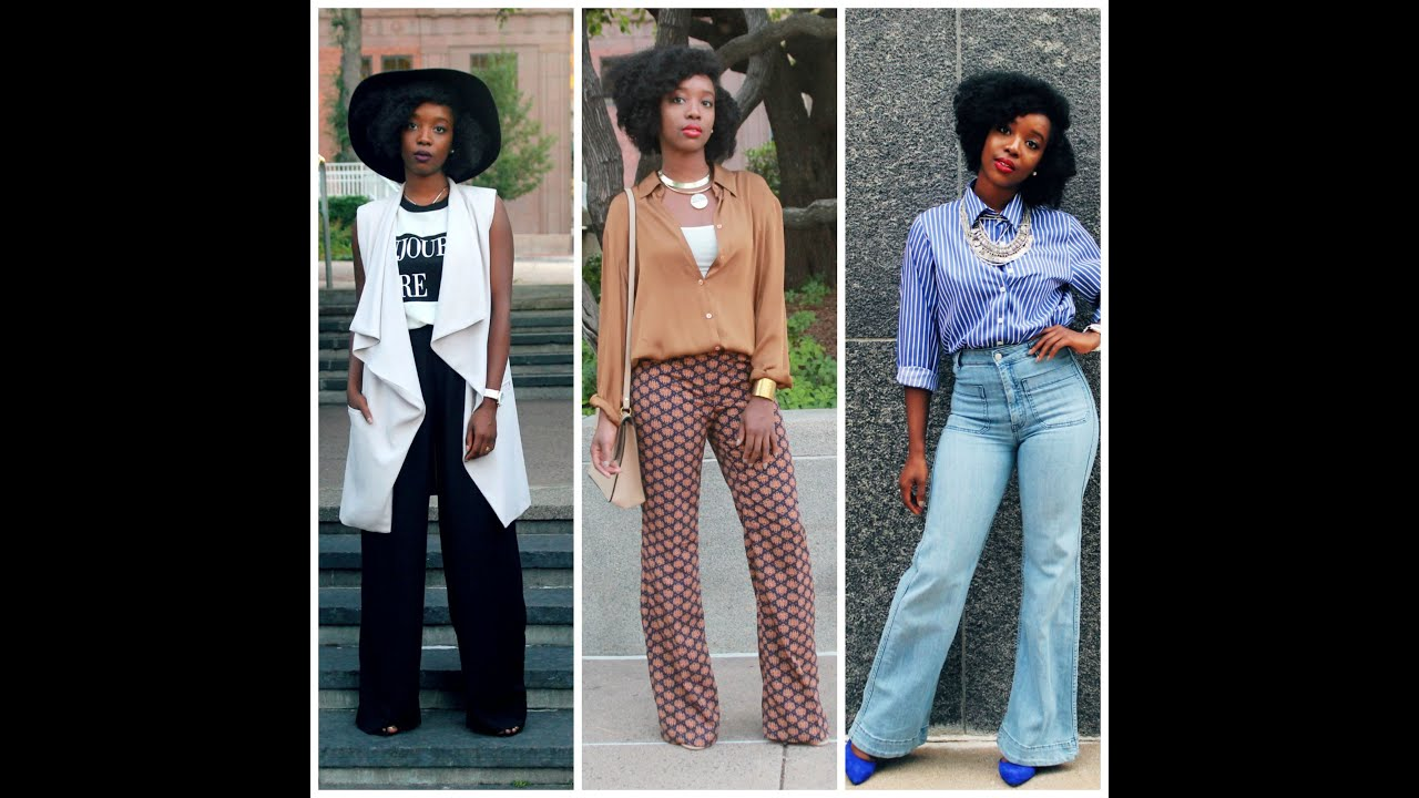How To Style: Wide Leg/ Flare Pants - YouTube
